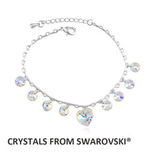 2015 super hot design! Classic heart charm bracelet With Crystals from SWAROVSKI for Christmas gift(China (Mainland))