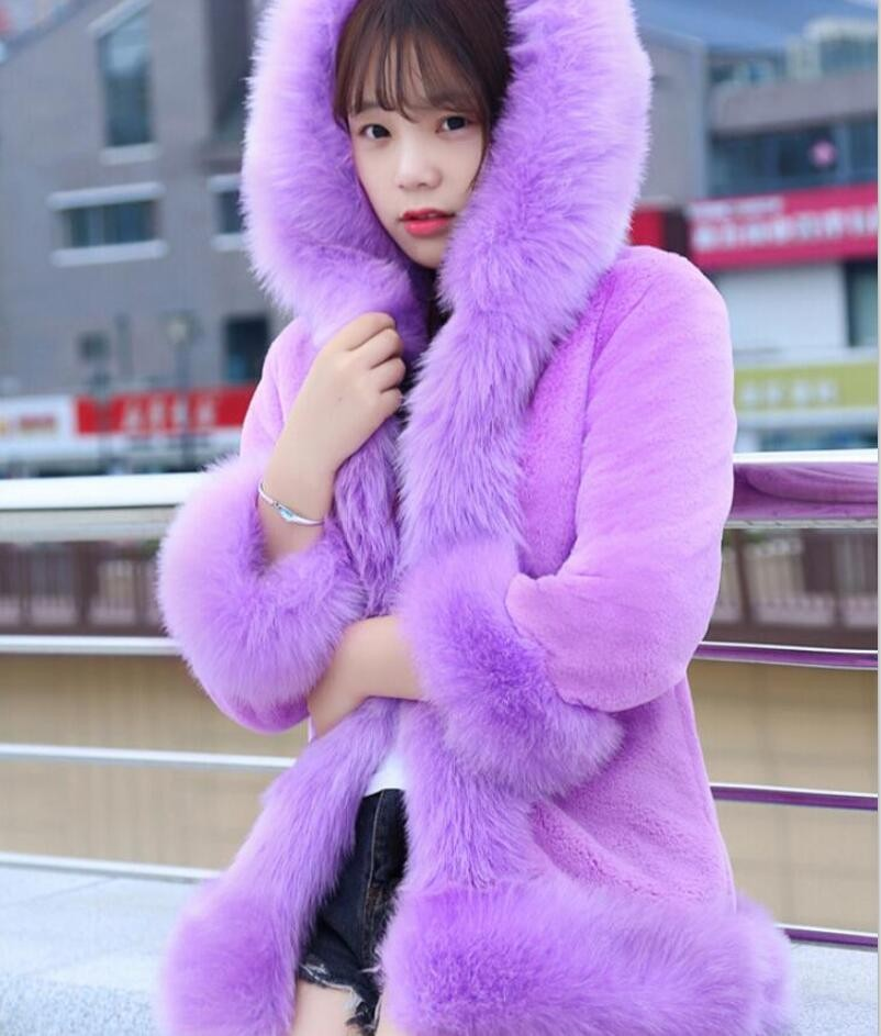 Best selling winter women faux mink elegant long coats,Princess style girls outerwear Fox fur collar rabbit fur hooded overcoatsОдежда и ак�е��уары<br><br><br>Aliexpress