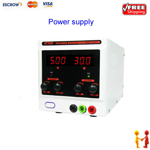 FREE SHIPPING!!! ATTEN APS3005S - 30V, 5A Variable DC Regulated Power Supply (Single Output)90w<br>