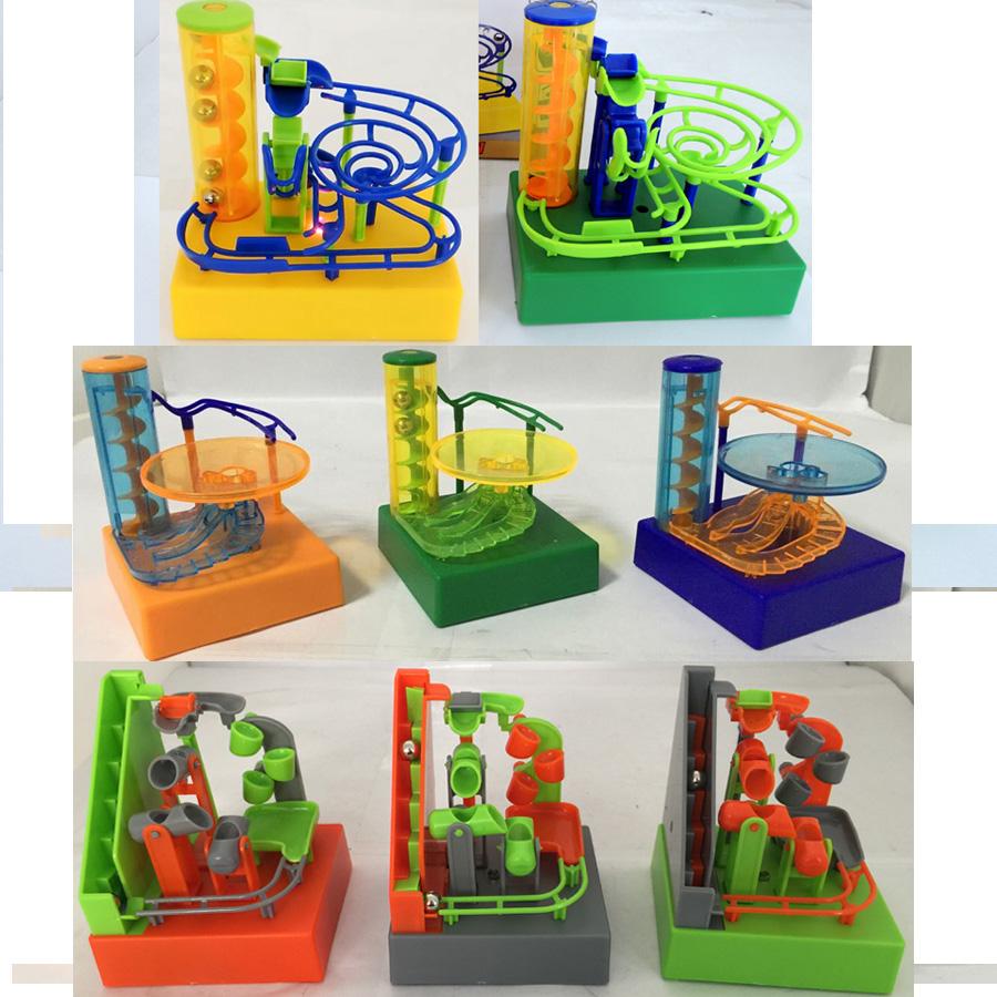 3 styles Electronic DIY Construction Desktop Marble Run Maze Balls Track Toys Building Blocks Amaze balls The Saucer 100pcs/lot(China (Mainland))