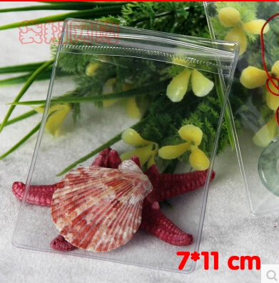 PVC packing bag 100pcs per lot 300g 7x10cm thick Transparent clear packing material promtion gift bag(China (Mainland))