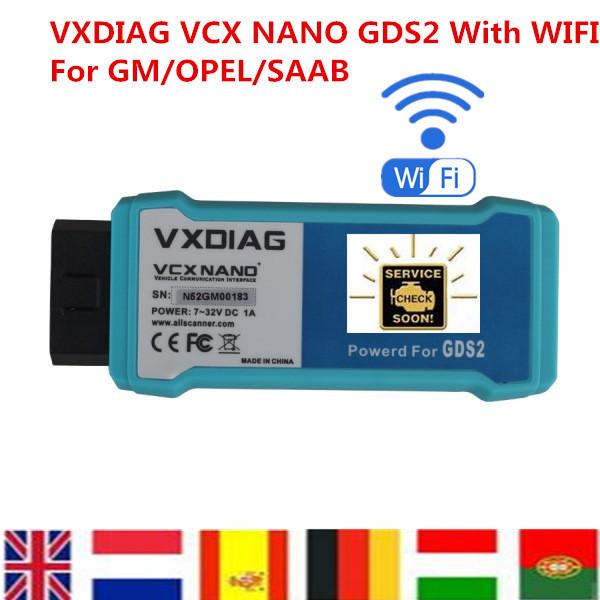 Free Shipping Multi Language VXDIAG VCX NANO For OPEL For SAAB GDS2 USB/WIFI Diagnostic Tool Replace MDI Coding(China (Mainland))