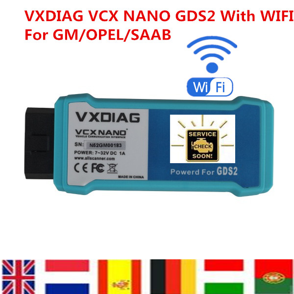 Free Shipping Multi Language VXDIAG VCX NANO For OPEL For SAAB GDS2 WIFI Diagnostic Tool Replace MDI Coding(China (Mainland))