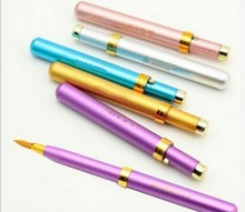 2 Pcs Travel Capped Retractable Lipstick Brush Portable Gloss Lip Brush Women Makeup Tools