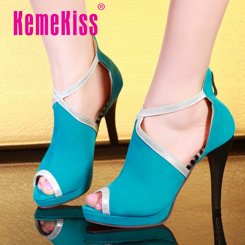 Free shipping quality high heel sandals fashion women dress sexy female platform shoes slippers P13802 hot sale EUR size 31-44<br><br>Aliexpress