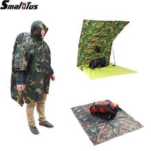 Climbing Camping Hiking Outdoor Raincoat Multifunctional 3in1 Travel Rain Poncho Backpack Rain Cover Waterproof Tent Awning(China (Mainland))