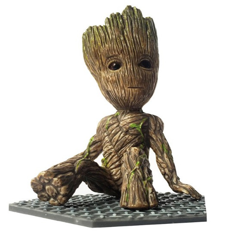new 1pieces/lot tree man groot pvc doll toy car decoration decoration gift(China (Mainland))