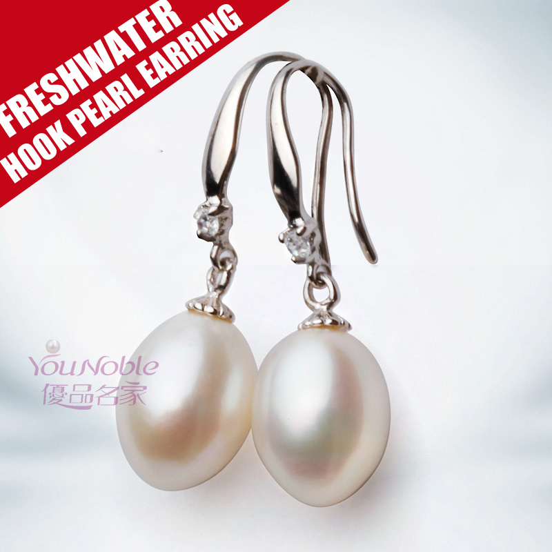 Real women pearl earrings freshwater silver 925 sterling,birthday part gift pearl drop earrings jewelry pendientes brincos(China (Mainland))