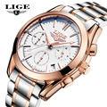 LIGE Luxury Brand Fashion Casual Business Men s Quartz Watch Crime Watch Men s All Steel