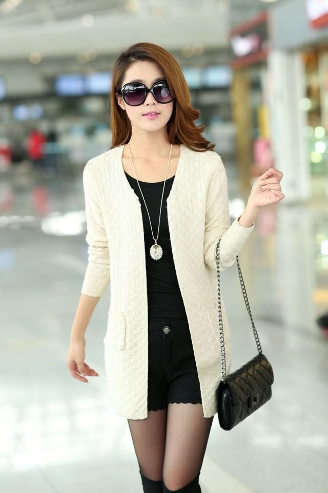 2015 Spring and Autumn new women's long sweater coat thin cardigan sweater shawl large size(China (Mainland))
