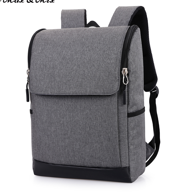 MAX&MIX LOWEST PRICE 1PC GREY Durable Laptop Backpack Unisex Suitable Business Organizer Bag School Bag College Student Backpack(China (Mainland))