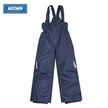 Moomin overalls winter for boys 2015 fashion Solid winter cotton pants boys Loose dark blue Zipper Fly pants for winter(China (Mainland))