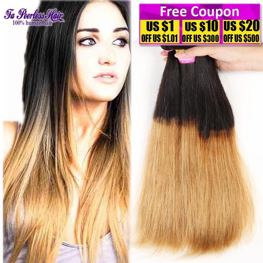 peruvian virgin hair straight 3 bundles human hair extensions cheap ombre bundles of hair fa peerless virgin hair suppliers 100g(China (Mainland))