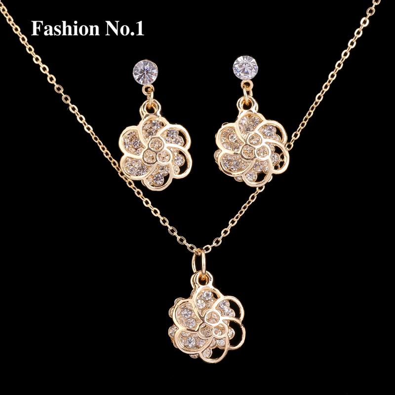 aliexpress buy new flower zircon pendant necklace