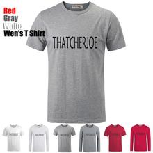 Simple Style Funny Cute Cool Thatcherjoe Pattern Printed T-Shirt Men's Boy's Graphic Tee Tops Grey White Red