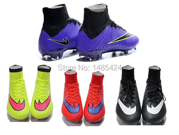 high ankle cr FG outdoor 2015 Cristiano Ronaldo X 10 CR7 and magistaes mens top quality sport footwear soccer cleats shos(China (Mainland))