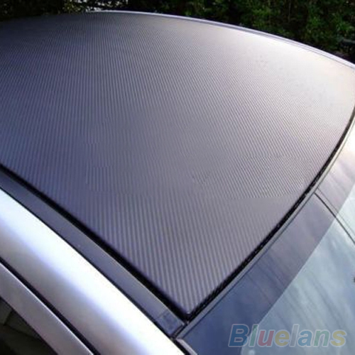 3D Carbon Fiber Black Vinyl Film Sheet Wrap Roll Auto Car DIY Decor Sticker  1QNV(China (Mainland))