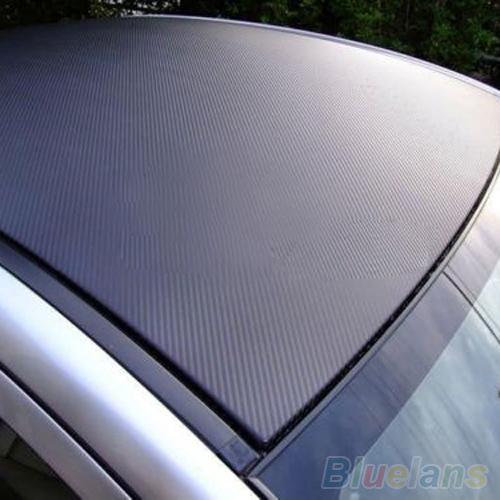 3D Carbon Fiber Black Vinyl Film Sheet Wrap Roll Auto Car DIY Decor Sticker 1QNV(China (Mainland))