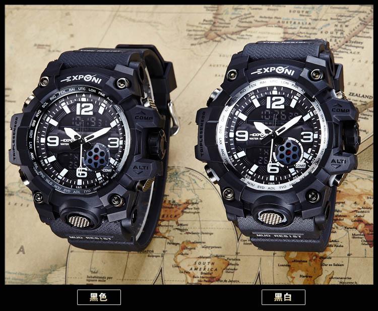 Mens Watches Luxury Sport Army Outdoor 30m Waterproof Digital LED Watch Military Men's Quartz Wrist watch Relogio Masculino