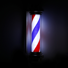 ANCHEER 28inch Barber Shop Pole red white blue Rotating Light Stripe Sign Hair Salon bulb Store LED Rotating Light 22(China (Mainland))
