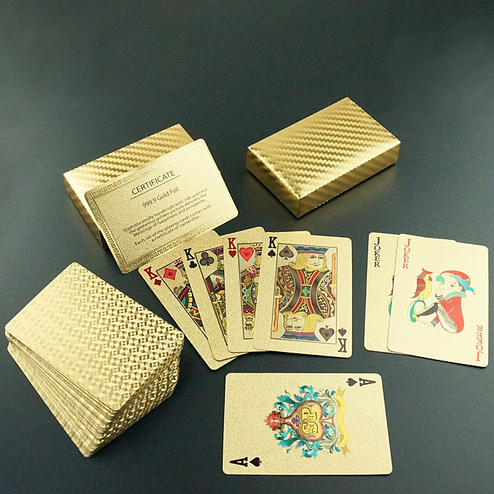 2015 New Fashion Hot Sale Exquisite Gift & Gambling & Entertainment Gold Foil Poker Card Plaid Style Playing Cards(China (Mainland))