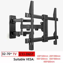 Penuh Gerakan TV Wall Mount Braket TV untuk 10-70 Inch Tilt Putar Braket TV Stand Monitor PC MOUNT bracket Diputar TV Pemegang(China)