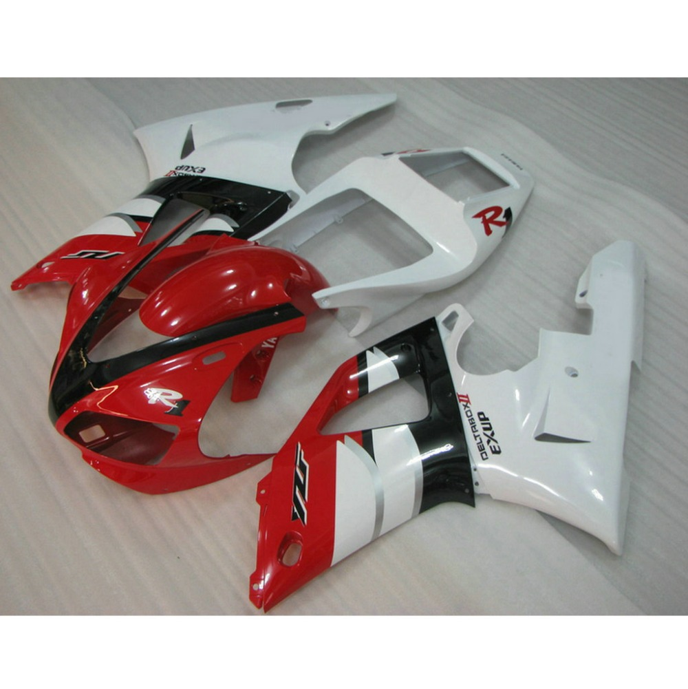Custom ABS plastic motorcycle injection fairings kit for YAMAHA YZF R1 1998 1999 YZFR1 98 99 red white body repair fairing parts(China (Mainland))