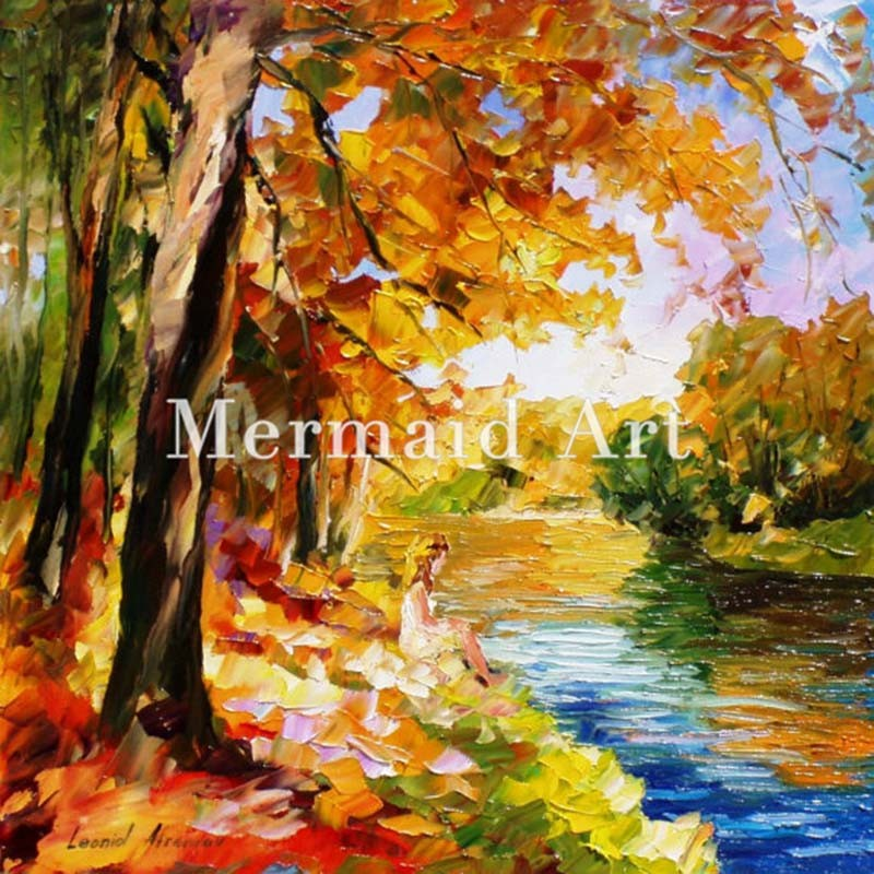 Buy Landscape Abstract Triumphal Arch Hand Painted Palette Knife Modern Oil Painting Canvas Wall Living Room Artwork Fine Art cheap