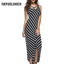 Buy Refeeldeer Beach Dress Women 2017 Summer Sundress Plus Size Long Black Striped Tunic Bodycon Maxi Dresses Robe Vestido De Festa for $9.90 in AliExpress store