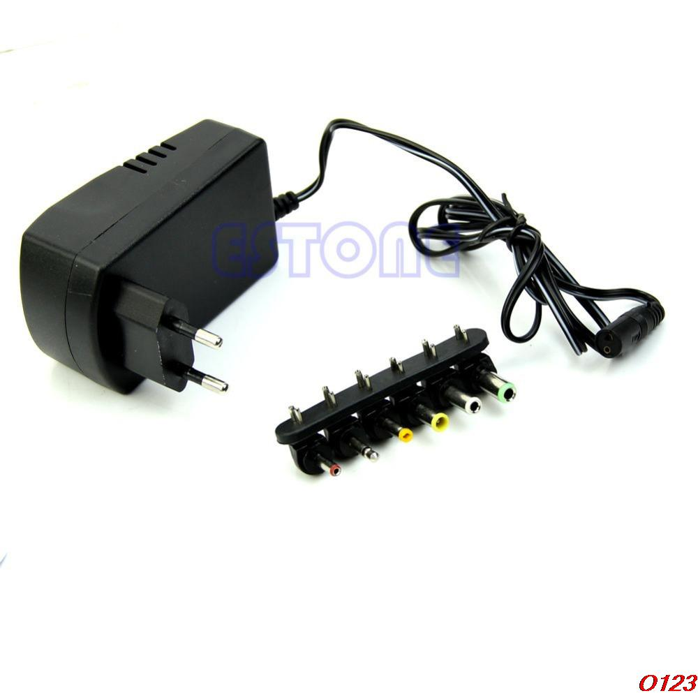 Free shipping Universal EU AC/DC Adaptor Plug Power Supply 3/4.5/6/7.5/9/12V DC Charger-O123(China (Mainland))