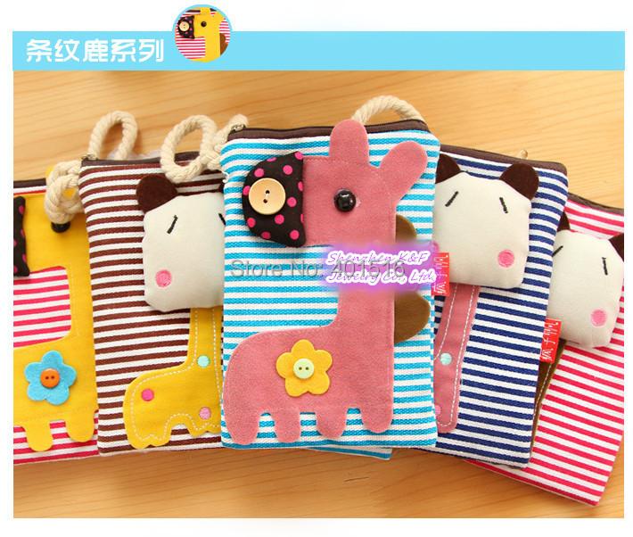 Fashion Cute Cartoon Flannel Change Purse Korea Style Kawaii Large