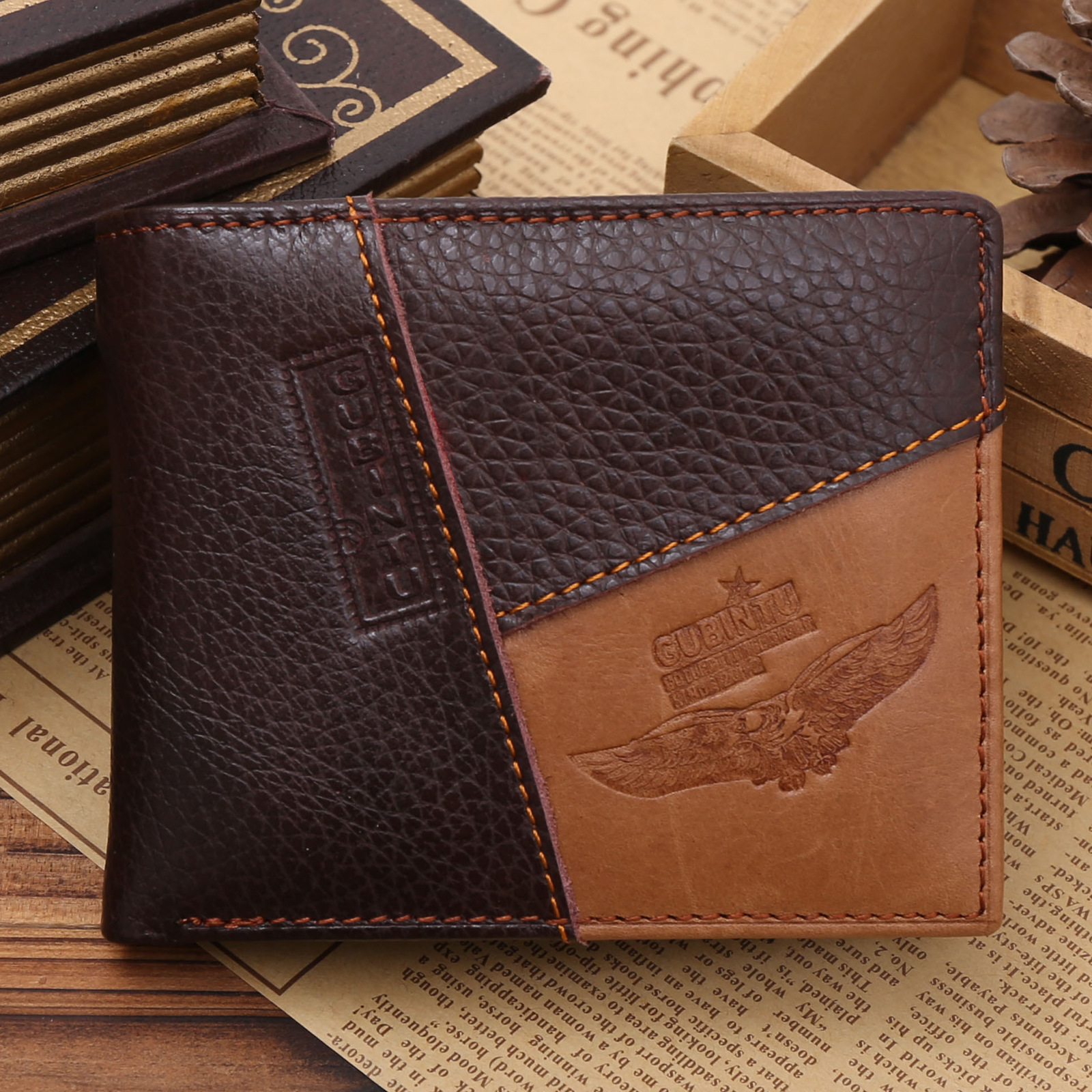 2016 Coin Purse Genuine Leather Card Holder Wallet Men With Zipper Coin Pocket Fashion Brand Quality Wallets Carteira Men Wallet<br><br>Aliexpress
