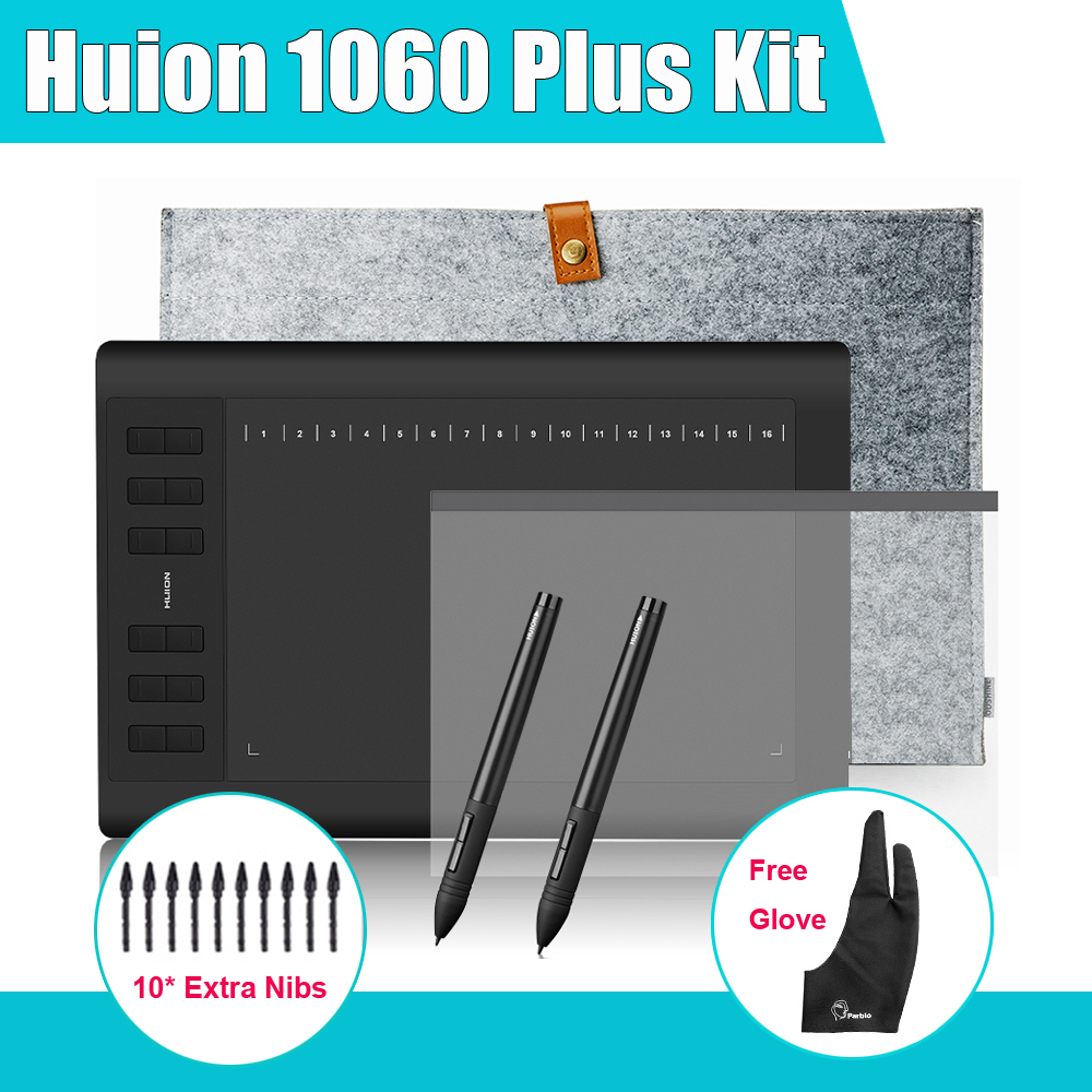 2 ручки Чuion 1060 плюс Графический чертеж цифрового планшета Вт/ 8 ГБ SD-карта 12 Экспресс ключ + Защитная пленка +15