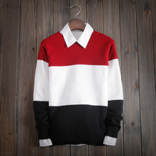 2015 High Quality Casual Sweater Men Pullovers Brand winter Knitting long sleeve o-Neck slim Knitwear Sweaters men(China (Mainland))