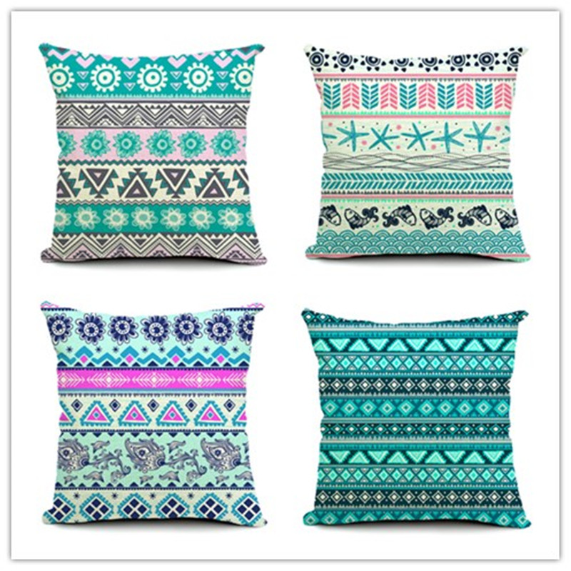 2015 New Fashion <font><b>Bohemian</b></font> Geometric Printed Pillow Bed Sofa <font><b>Home</b></font> <font><b>Decorative</b></font> Throw Pillow Fundas Para Almofadas Cojines
