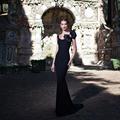 Tarik Ediz Evening Dresses 2015 Prom Abendkleider Crystal Dress Party Evening Elegant Mermaid Black Bow Gown