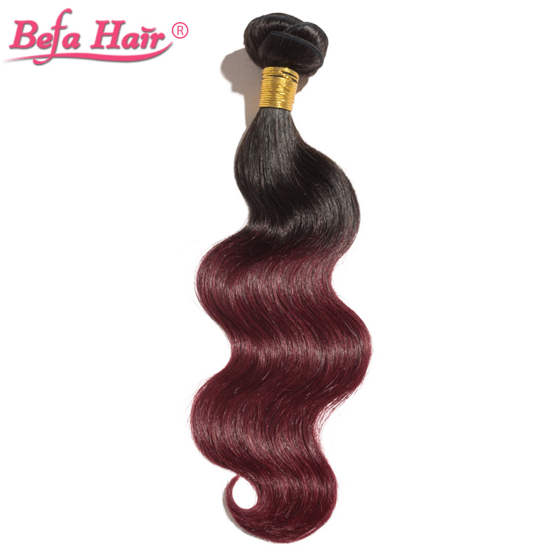 body wave ombre hair extensions Dyed from grade 6A virgin hair fast shipping free shedding 1b-99j