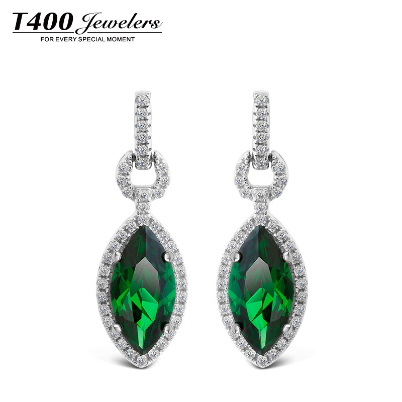 New 2014 drop earrings T400 made with AAA cubic zirconia water drop pendant,for women,925 sterling silver#2365,free shipping<br><br>Aliexpress