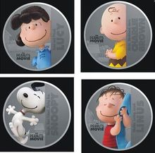 Mix4pcs1oz the Hollywood cartoon peanuts movie Comic Animation Anime silver plated coin,Elizabeth souvenir coins free shipping(China (Mainland))