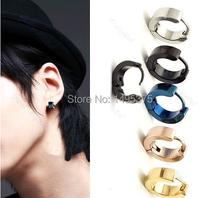 Free shipping 300pcs/lot Titanium Steel Man Ear Clip On Ear Earrings Studs(China (Mainland))