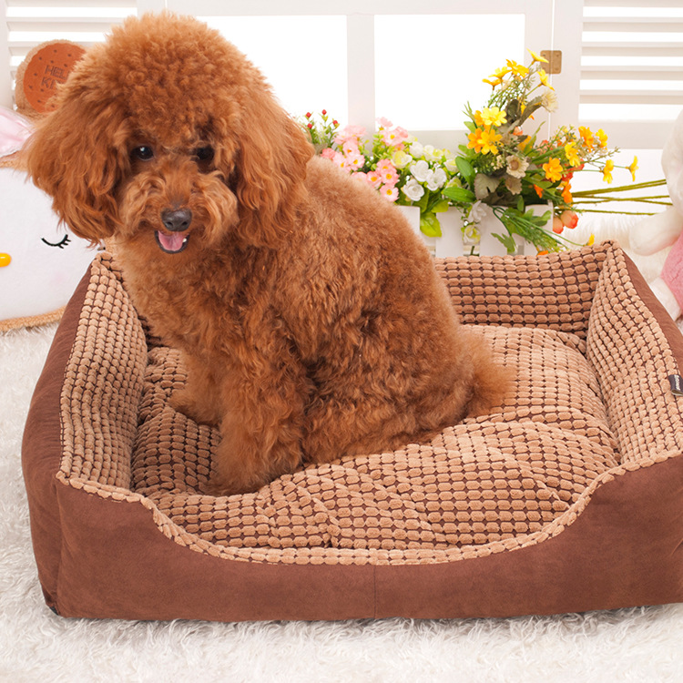 Factory direct corn Square luxury kennel washable pet nest pet supplies sofa house Fall winter Warm Pet Waterloo Dog Bed(China (Mainland))