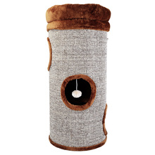 2/3 layers cat tree house cat furniture cat tree tower pet sisal rope barrel size 16*21*28cm(China (Mainland))