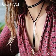 Buy Comiya brown flannelette pendants choker necklaces women collares mujer cowboy stylish personality accessories Gold Color for $1.28 in AliExpress store