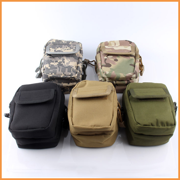 Camping Hiking Bag Pouch Case Military Mini EDC Pack Expanded Molle Bags Small Tactical 1000D Nylon - ChenLian store