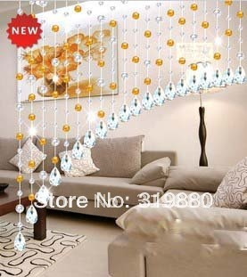 On sale!!! Wholesale Crystal bead curtain Amethyst 32 colorful section cut off porch door curtain decorative bead curtain(China (Mainland))