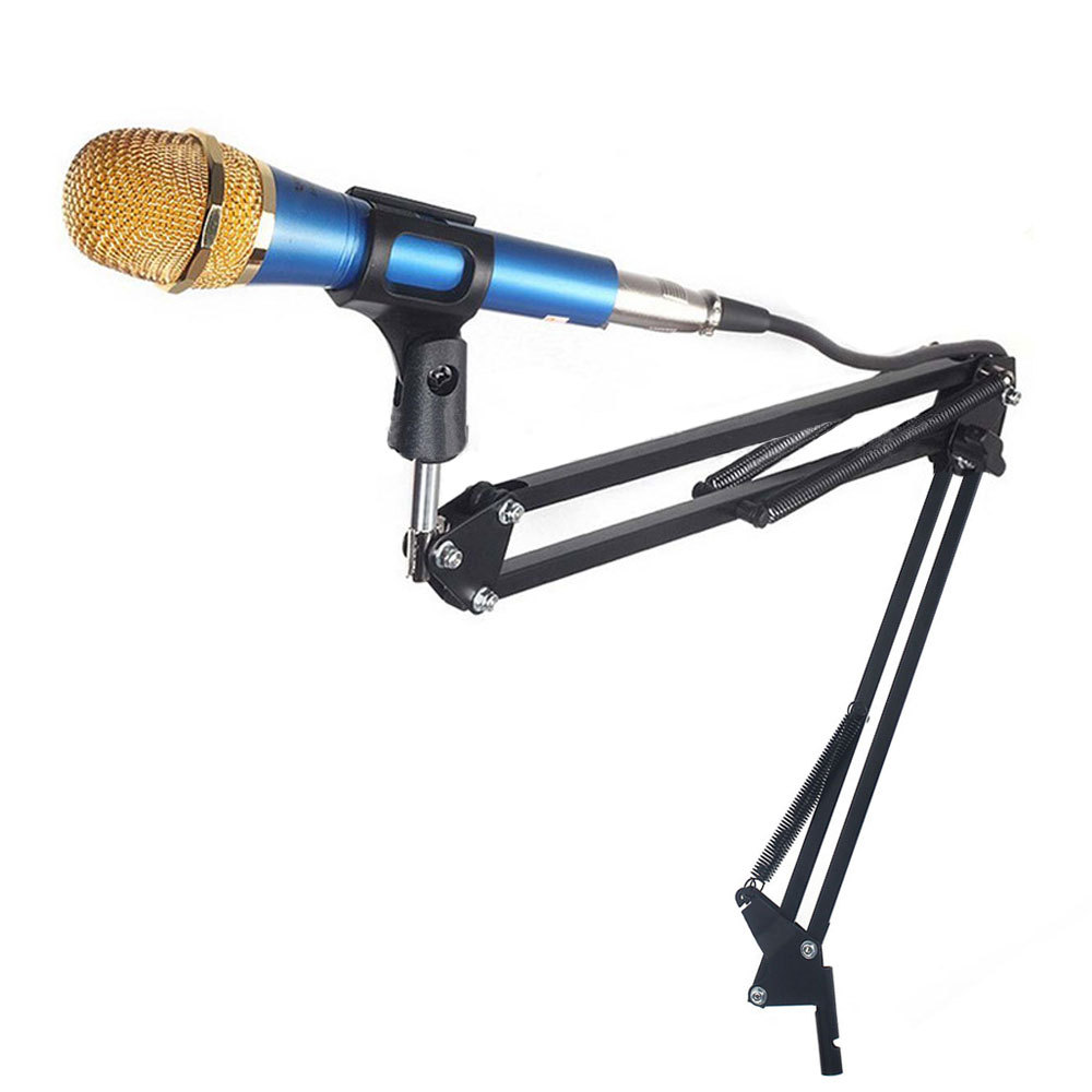 New Professional Black Mic Microphone Studio Broadcast Suspension Boom Scissor Arm Stand Holder Microphone Accessories(China (Mainland))