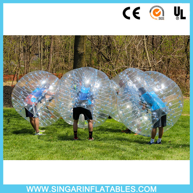 Free shipping 0.8mm PVC 1.8m diameter indoor bubble soccer,giant inflatable ball,bubble football for big heavy players(China (Mainland))