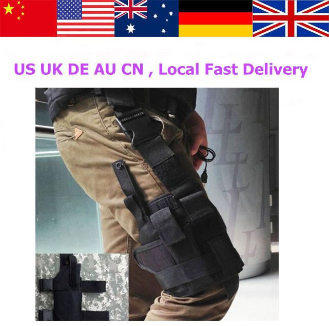 New Adjustable Tactical Army Military Pistol Gun Drop Leg Thigh Holster Pouch Holder,Domestic Free Delivery(China (Mainland))