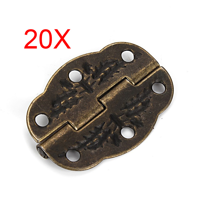 20pcs Vintage Bronze Engraved Designs Hinges Cabinet Drawer Jewelry Box Pack Furniture Hinges(China (Mainland))