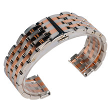 Buy 22/20mm Stainless Steel Bracelet Silver Rose Gold Solid Link Wrist Band Watch Strap Hidden Clasp Luxury + 2 Spring Bars for $18.53 in AliExpress store